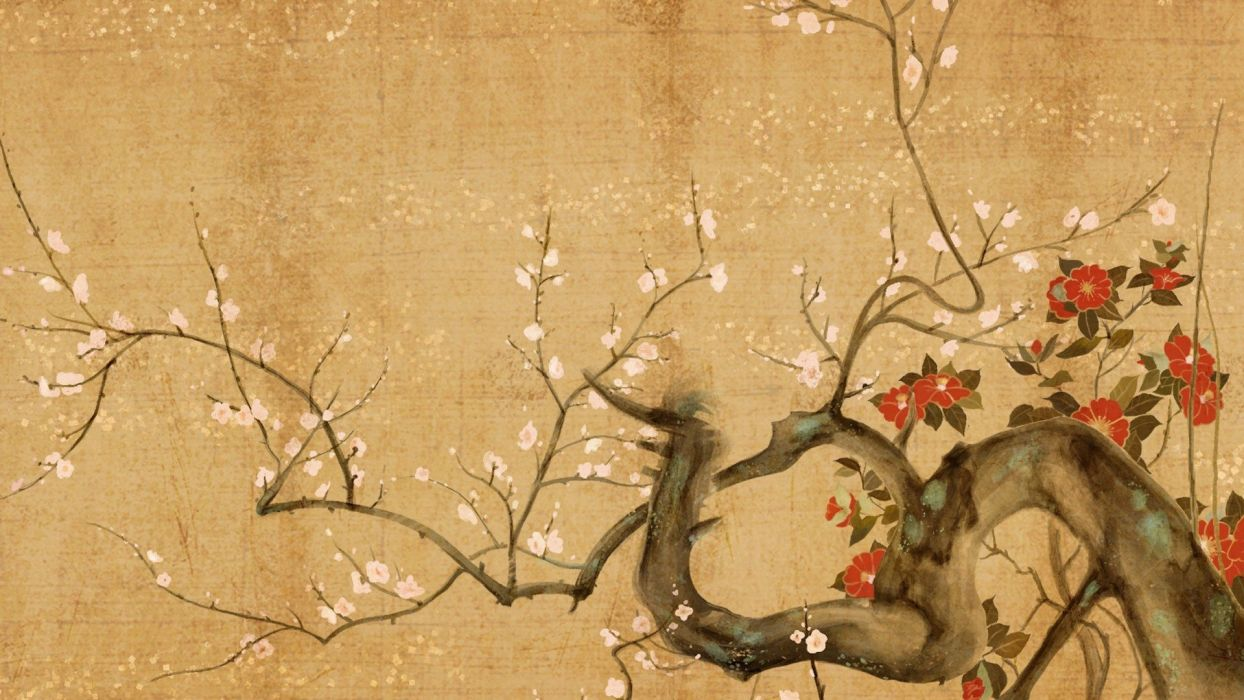 cherry blossom cherry trees paper trees wallpaper