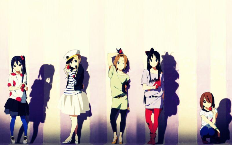 dress anime girls K-ON! school girl wallpaper