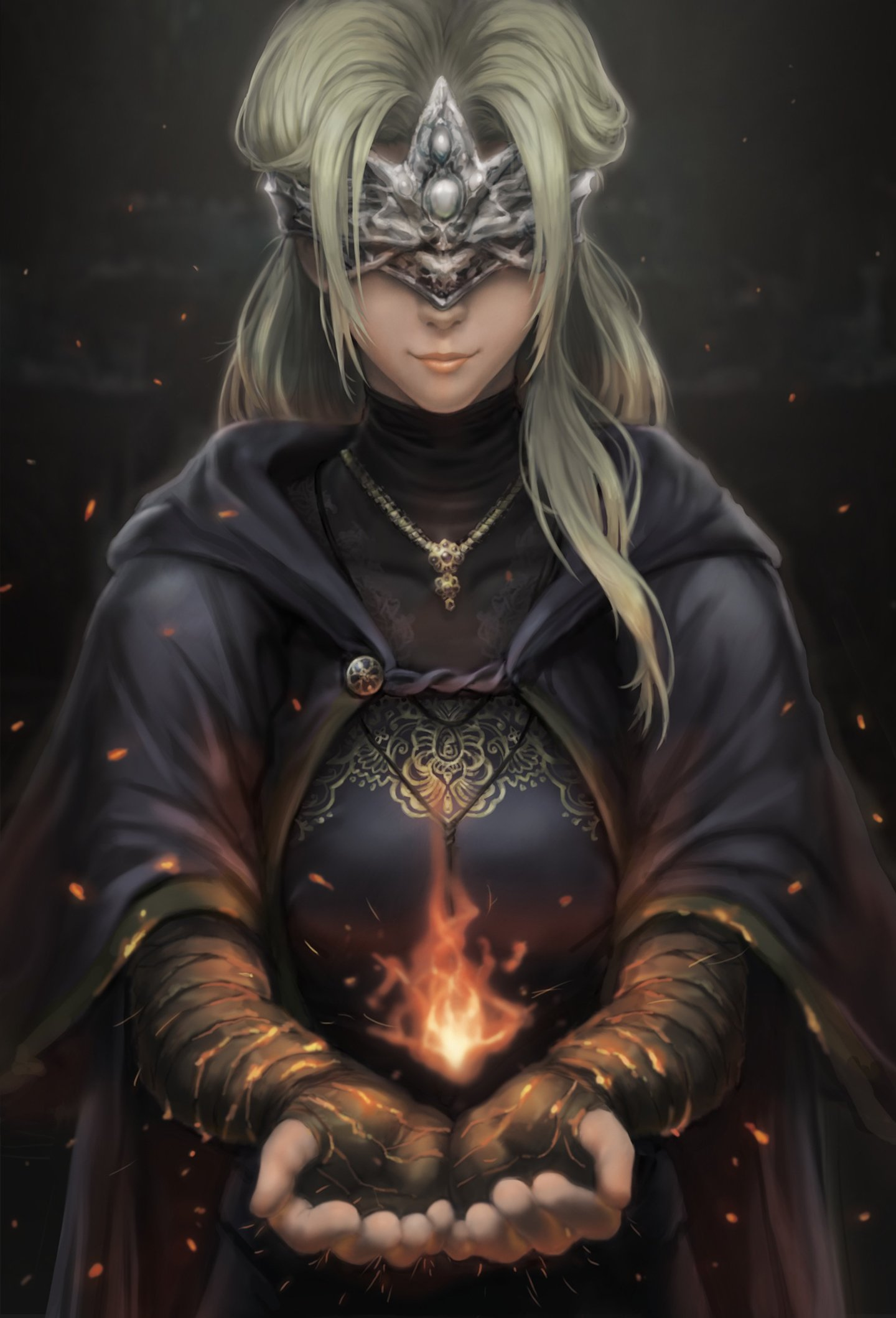 Bandages Dark Souls Dress Fire Keeper Marco Poon Wallpaper