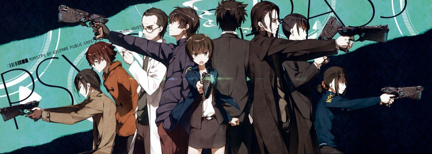 Kantoku anime girls gun Psycho-Pass wallpaper
