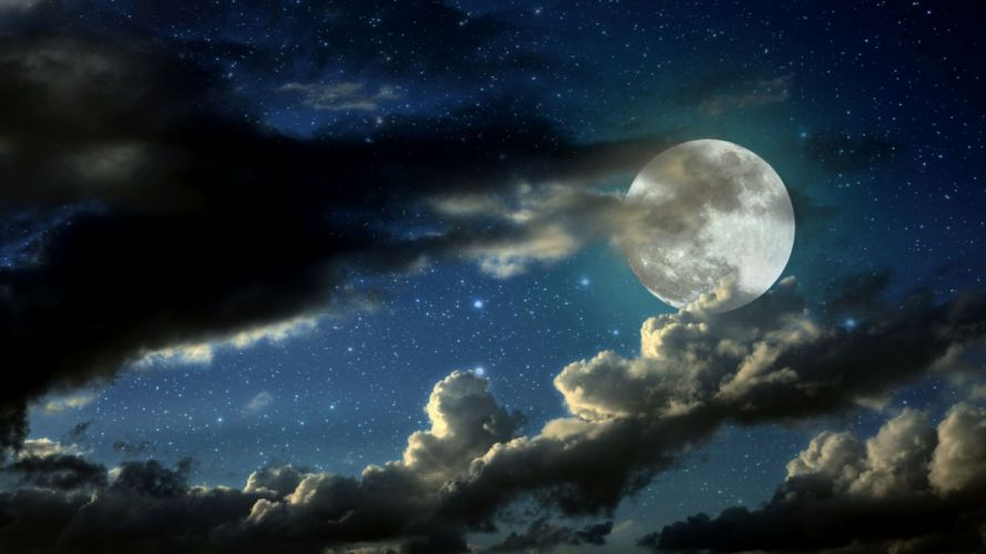 landscape abstract moon sky wallpaper