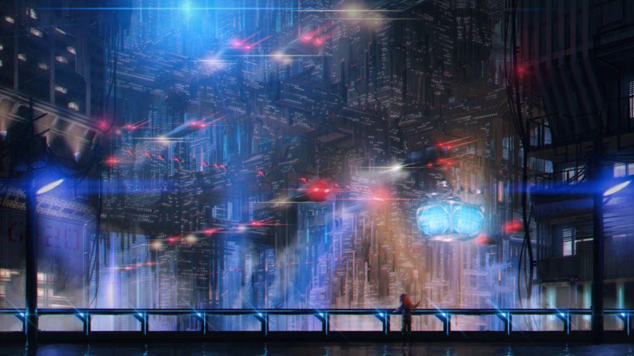 landscape fantasy city wallpaper