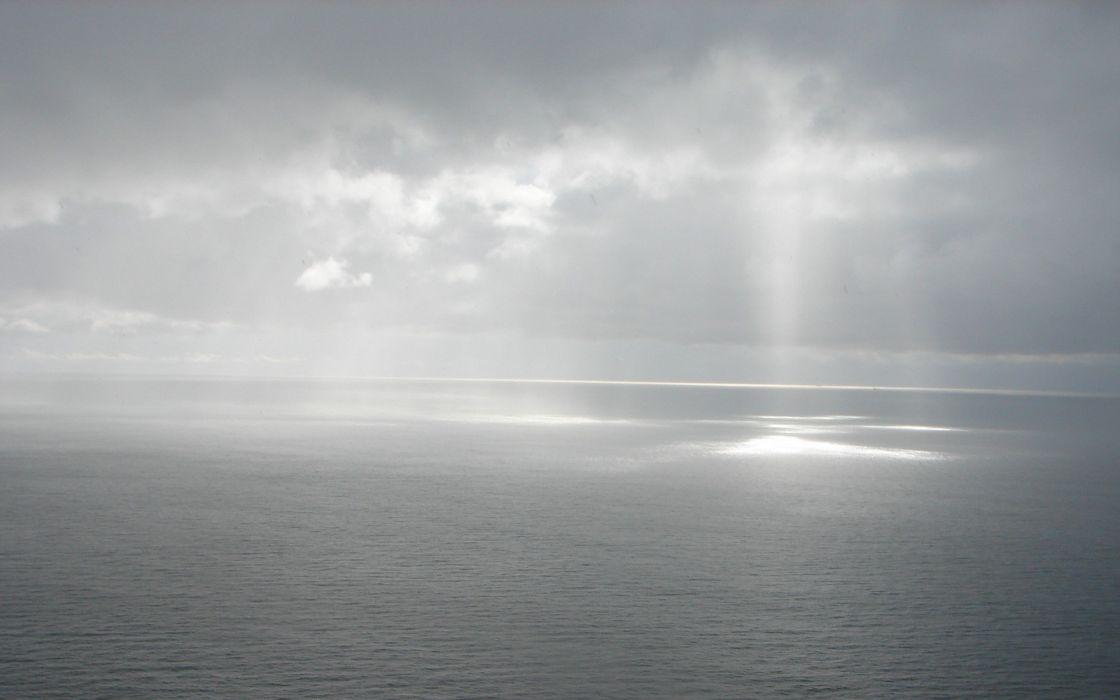 sea sky clouds wallpaper