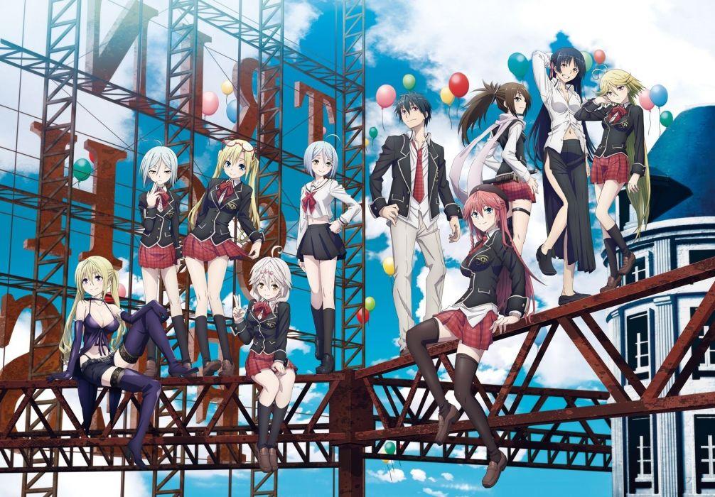 Trinity Seven Anime Girls Asami Lilith Kannazuki Arin Group
