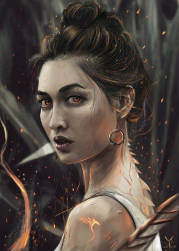 yasar-vurdem-dragongirl fantasy art portraits original beautiful wallpaper