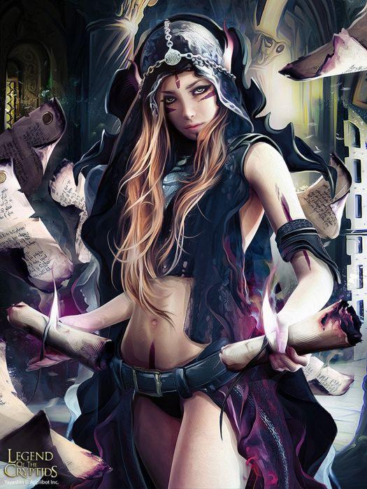 Fantasy woman magic Elf wallpaper