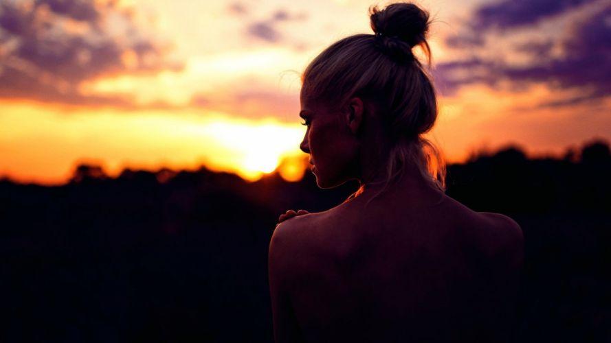 women sunset photography wallpaper
