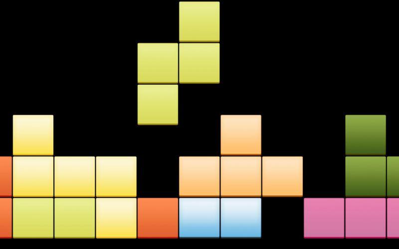 tetris clasico video juego wallpaper