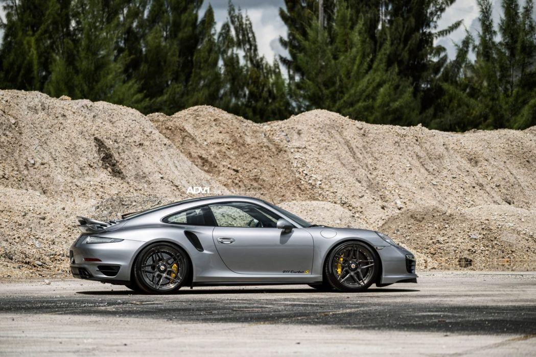 adv1 wheels cars Silver Porsche 911 (991) Turbo-S wallpaper