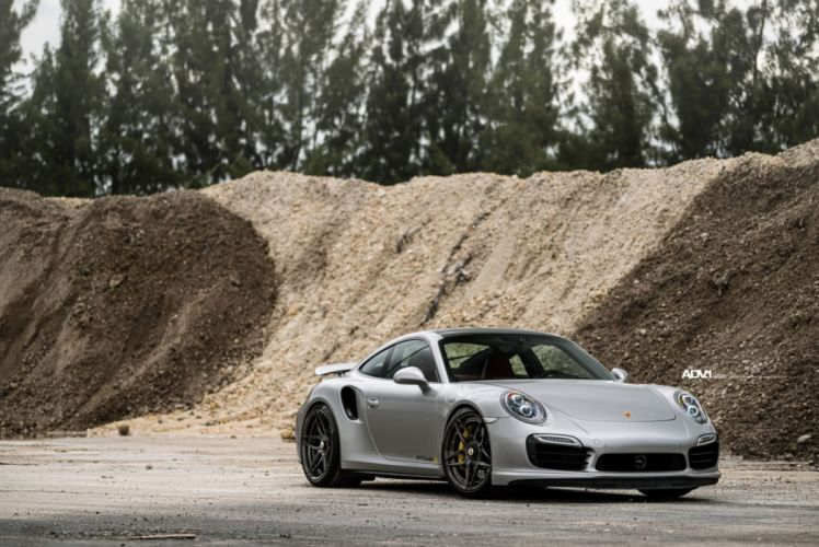 adv1 wheels cars Silver Porsche 911 (991) Turbo-S wallpaper