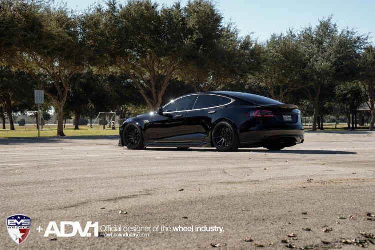 adv1 wheels cars Tesla Model-S electric black wallpaper
