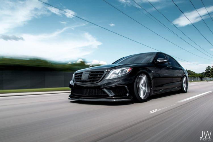 adv1 wheels cars Black Mercedes Benz S-Class sedan wallpaper