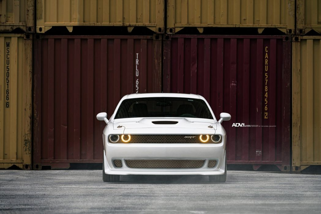 adv1 wheels cars White Dodge Challenger SRT HellCat wallpaper