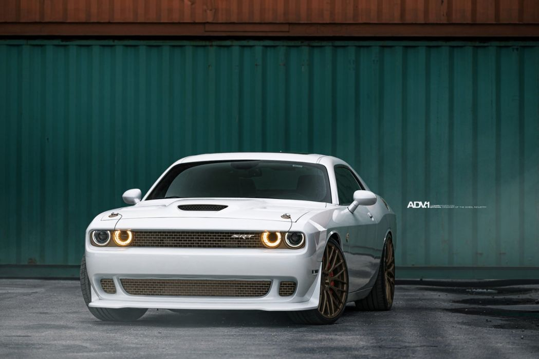 adv1 wheels cars White Dodge Challenger SRT HellCat wallpaper