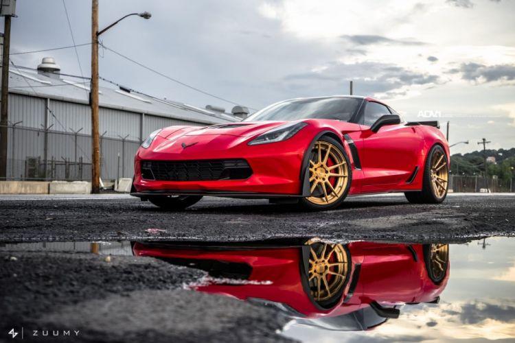 adv1 wheels cars RED CORVETTE Z06 (c7) wallpaper