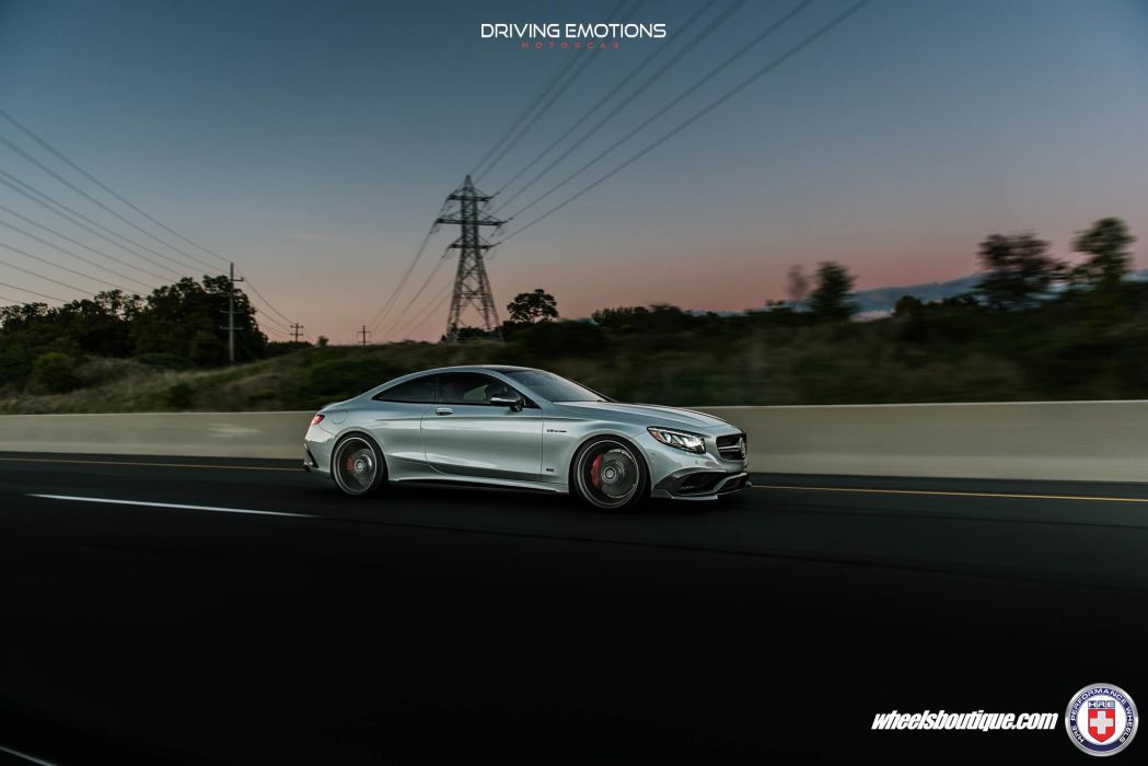 HRE wheels cars Mercedes S63 Coupe silver wallpaper