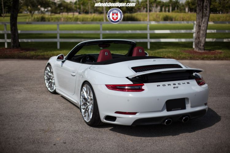 HRE wheels cars Porsche (991) 911 cabriolet white Carrera wallpaper