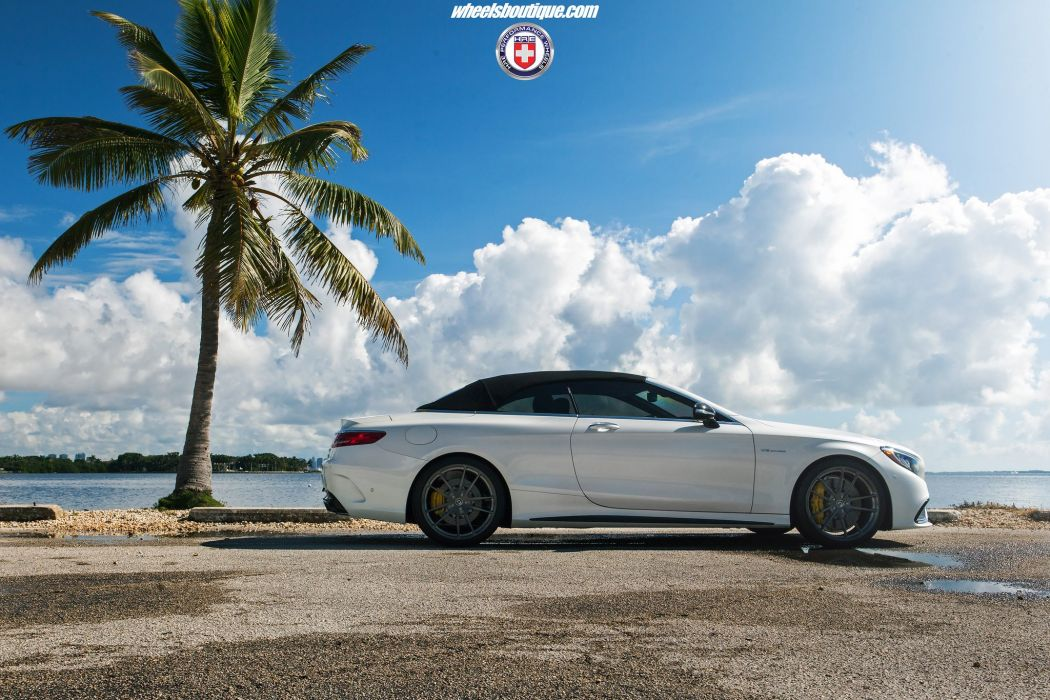 HRE wheels cars Mercedes S63 AMG Cabriolet white wallpaper
