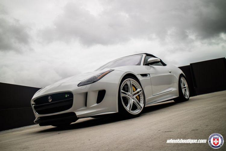 HRE wheels cars Jaguar F-Type-R AWD white wallpaper
