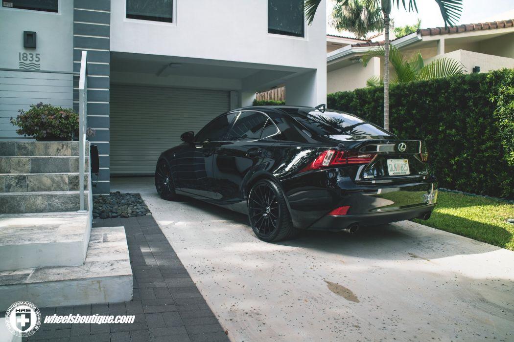 HRE wheels cars Lexus IS-250 black wallpaper