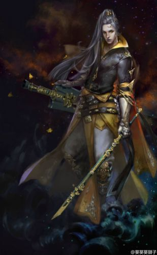 original characters fantasy warrior man swords wallpaper