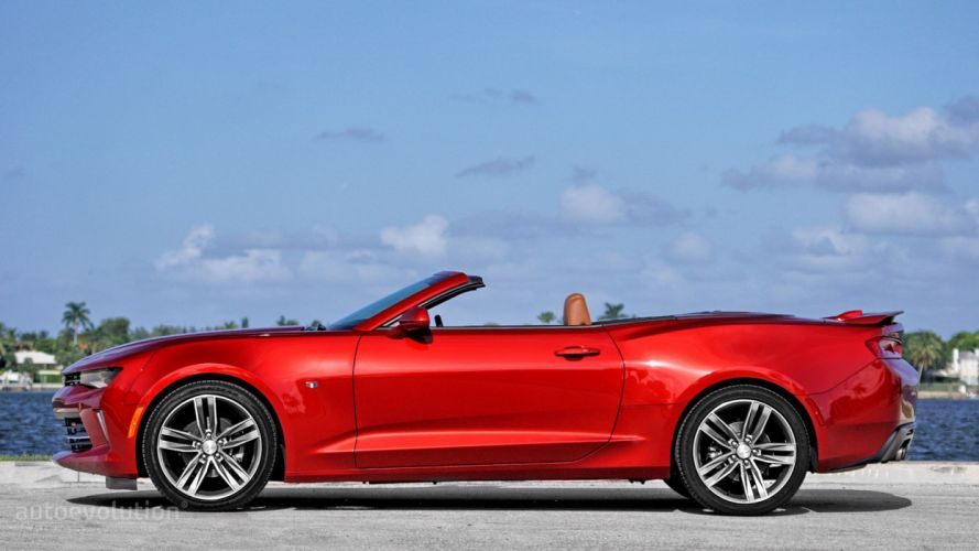 2016 Chevrolet Camaro-RS Convertible cars red wallpaper