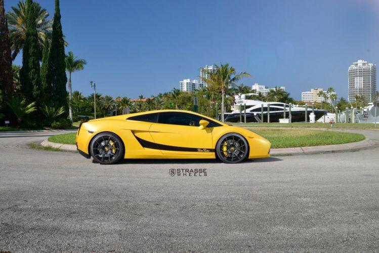 Strasse Wheels Twin Turbo Lamborghini Gallardo gallardo cars yellow wallpaper
