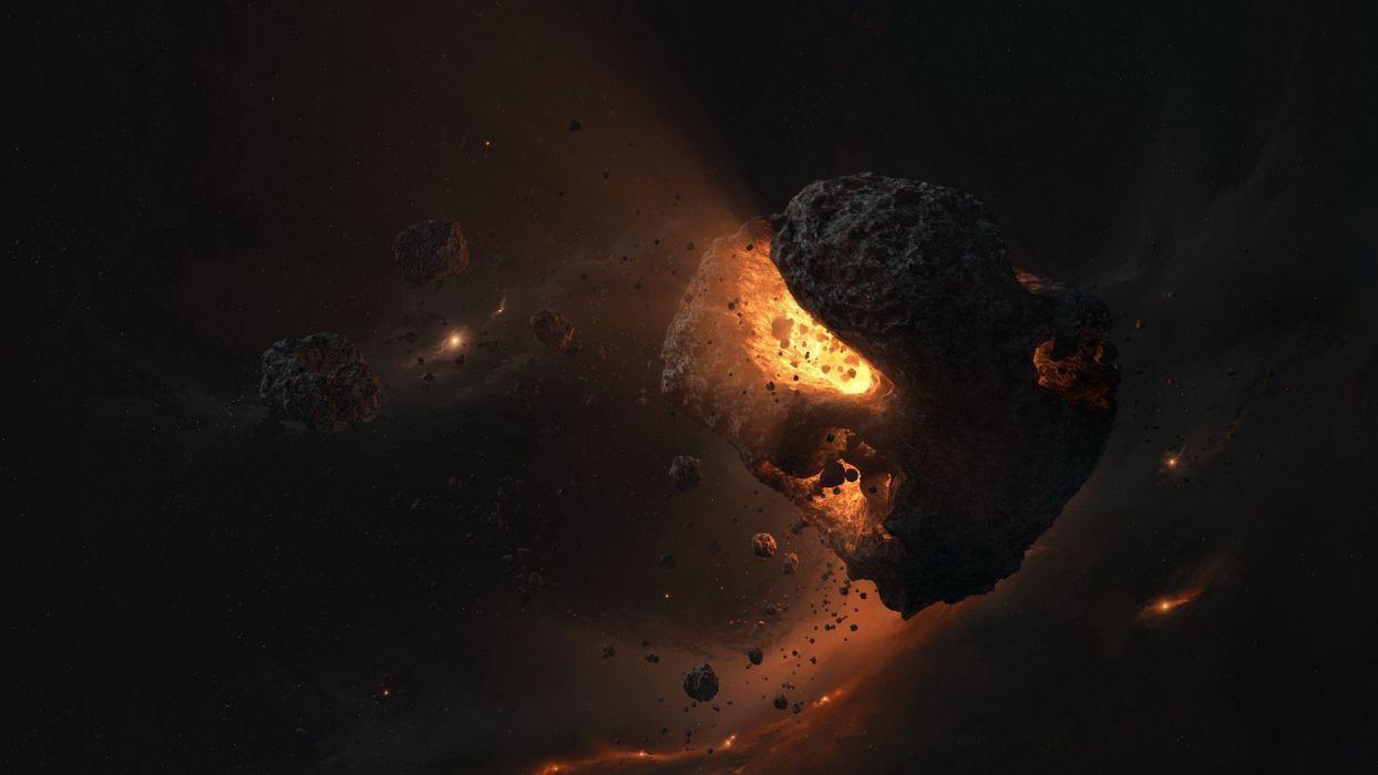 explosions meteorites wallpaper