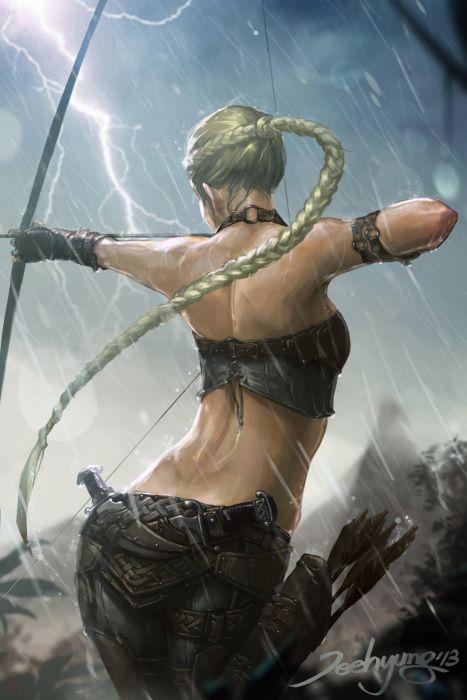 fantasy art blonde warrior woman wallpaper