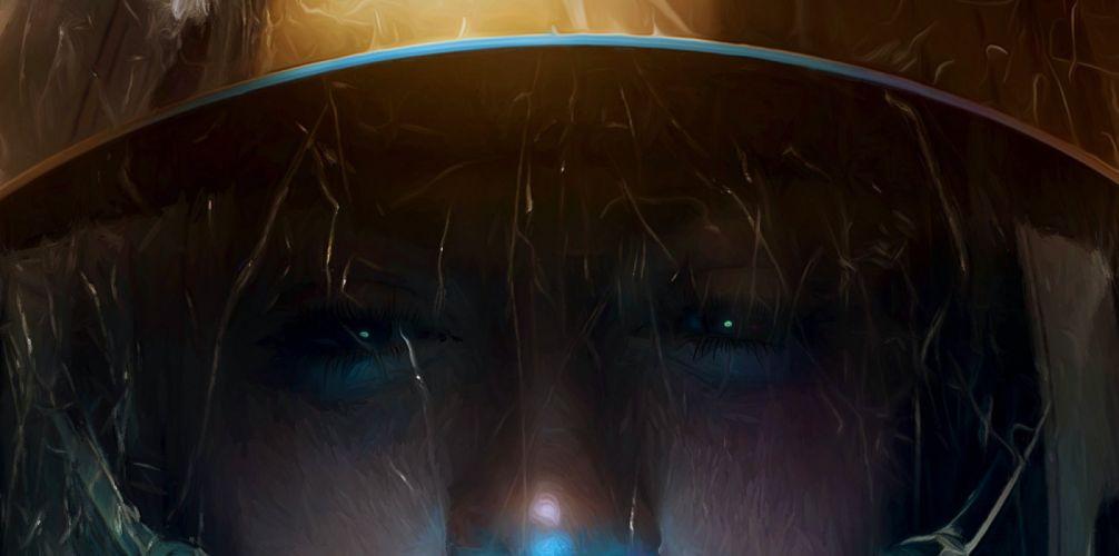 fantasy art original face eyes wallpaper