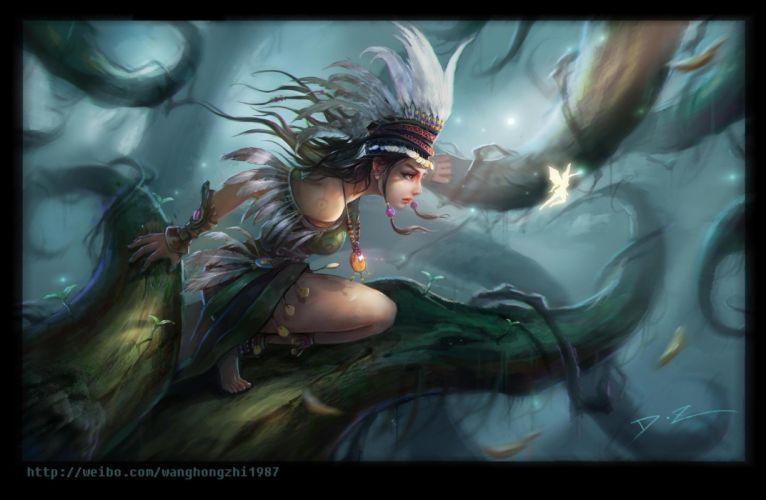 fantasy art warrior girls fairy wallpaper