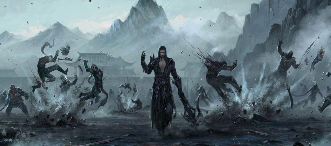 man magic original characters fantasy fantasy art wallpaper
