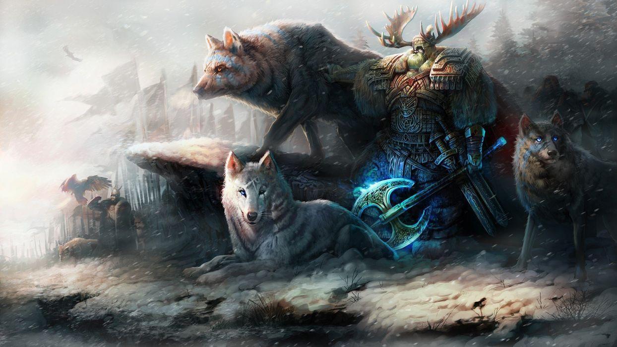wolf original characters fantasy fantasy art man animals wallpaper