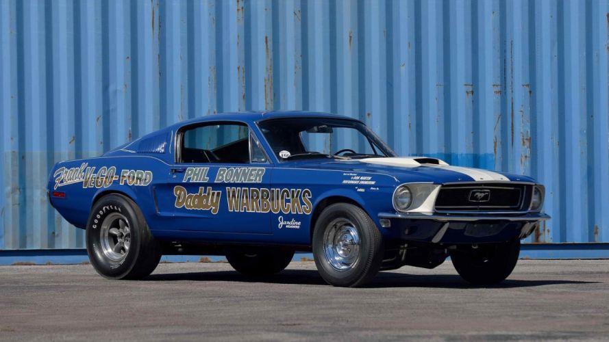 1968 Ford Mustang fastback Cobra Jet Lightweight cars race wallpaper