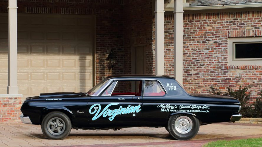 1964 PLYMOUTH HEMI SAVOY LIGHTWEIGHT cars racecars wallpaper