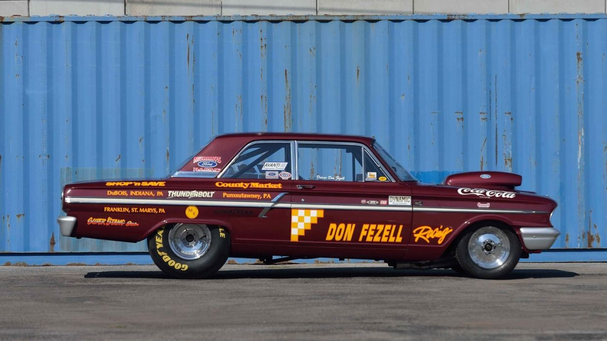 1964 FORD FAIRLANE DRAG CAR cars racecars wallpaper