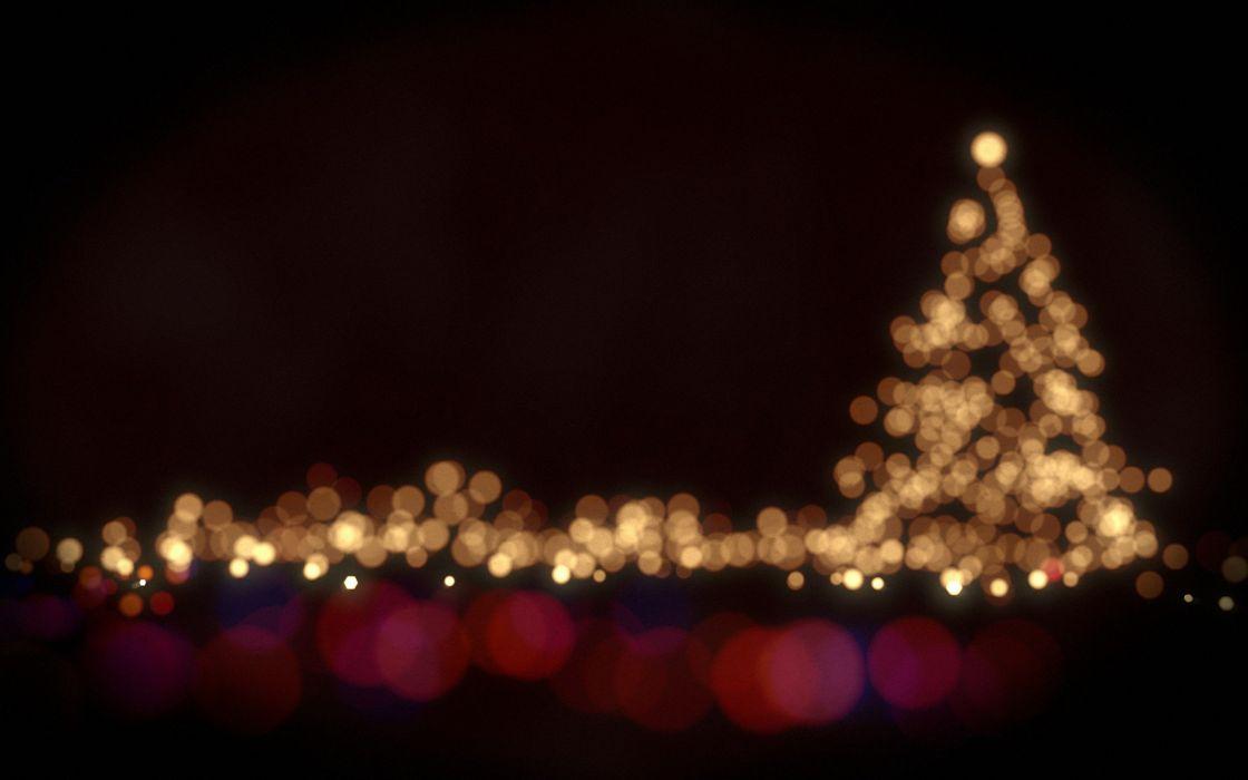 arbol navidad gigante luces ciudad wallpaper