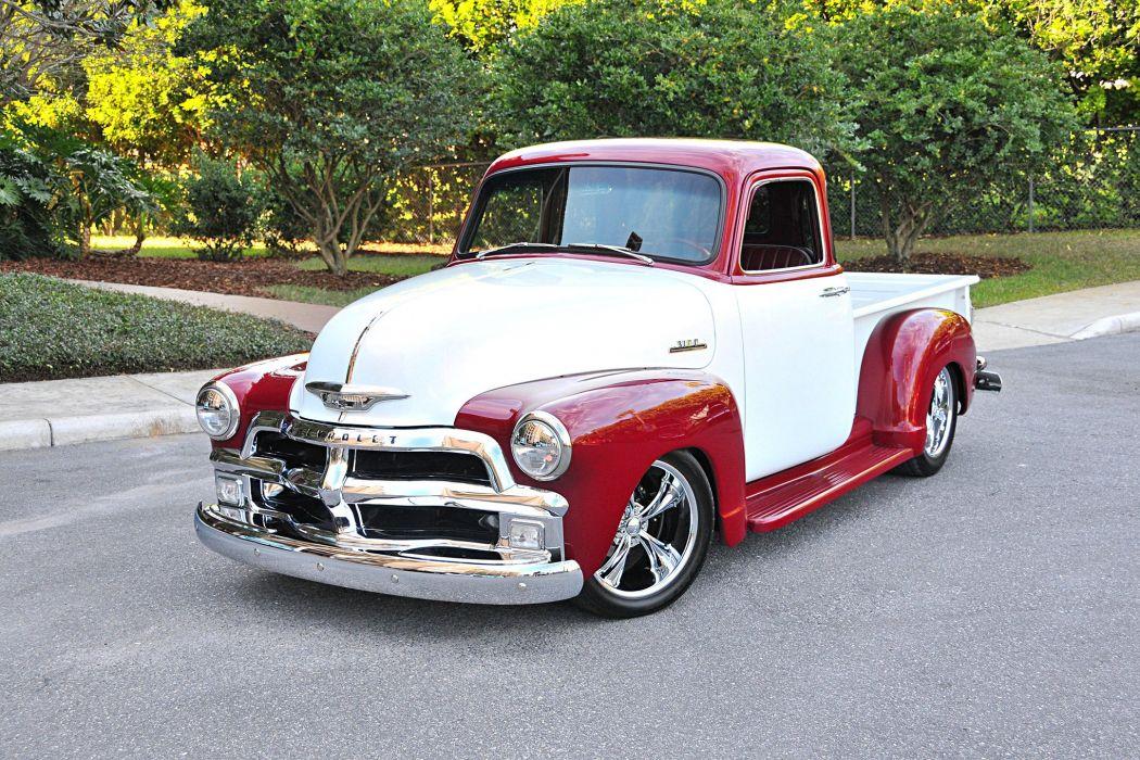 1954 Chevrolet 3100 pickup truck modified wallpaper
