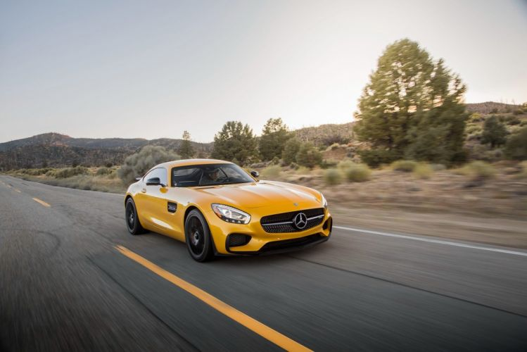 2016 Mercedes AMG GTS US-VERSION (C190) cars coupe yellow wallpaper