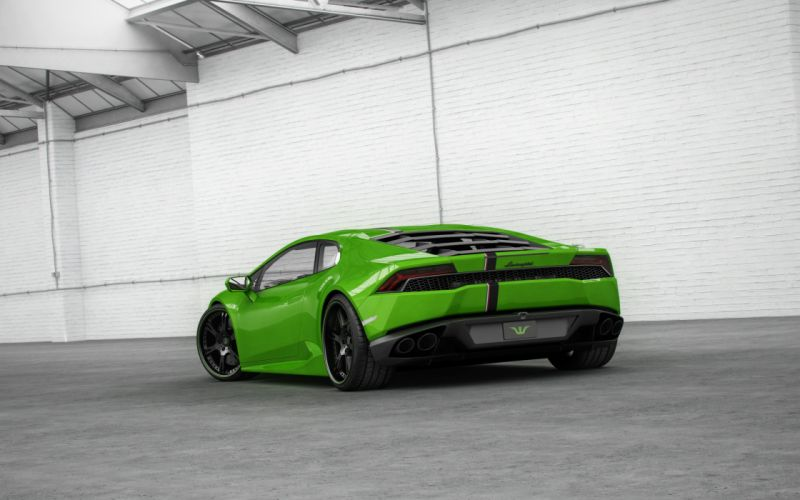 Wheelsandmore Lamborghini Huracan LP 850-4 Green Horny cars modified 2014 wallpaper
