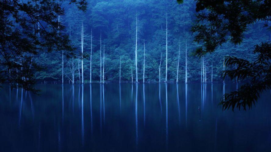 nature landscape beauty lake tree blue wallpaper