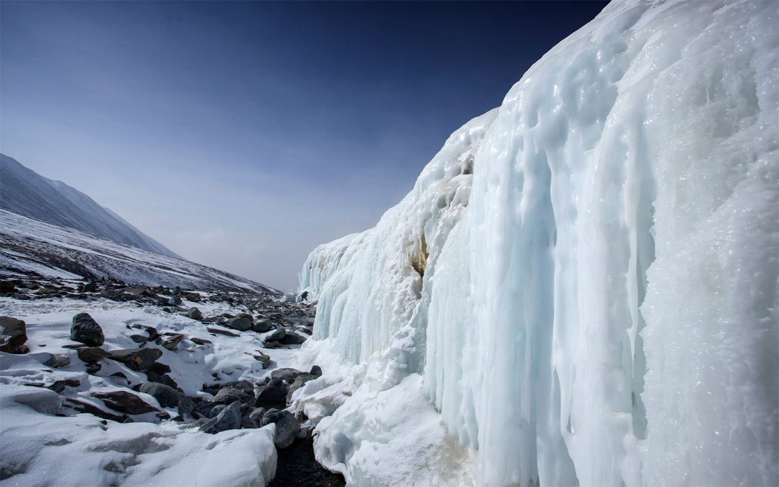 icefall nature landscape beauty  wallpaper