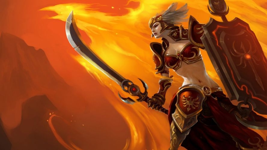 woman Hero League LOL Dawn Goddess Picture wallpaper