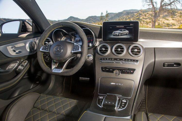 2016 Mercedes AMG C63-S Coupe Edition-1 US-VERSION (C205) cars black wallpaper
