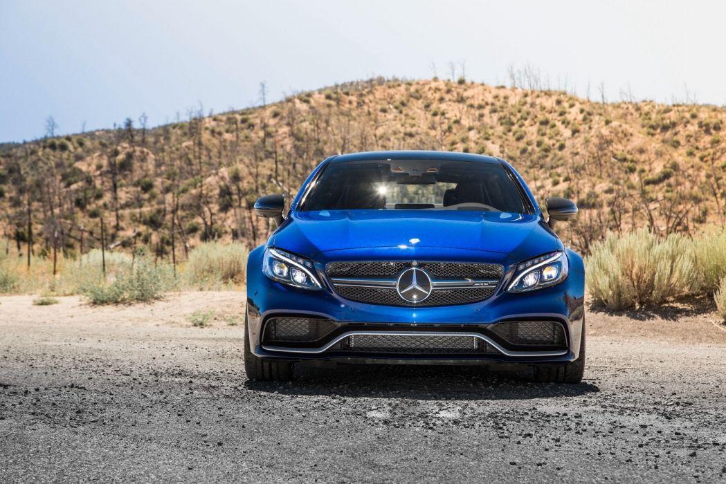 2016 Mercedes AMG C63-S Coupe US-VERSION (C205) cars blue wallpaper