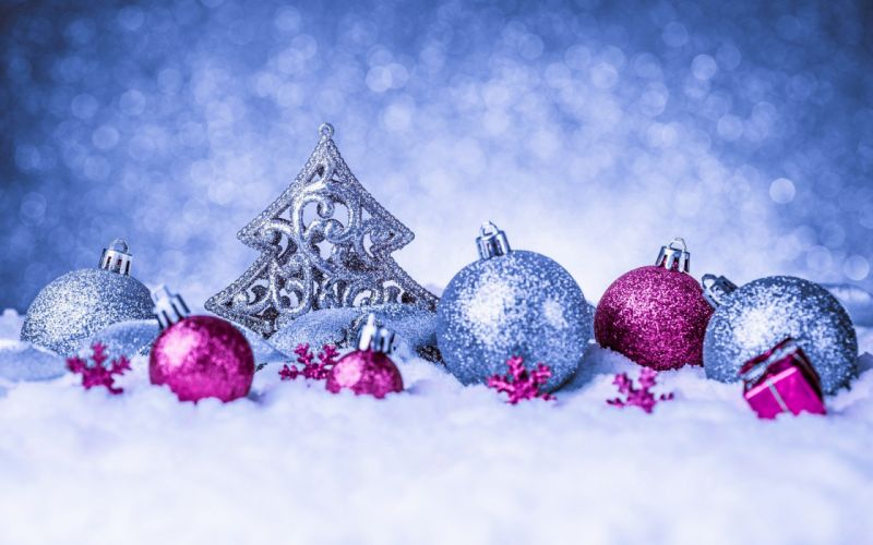 navidad nieve bolas wallpaper