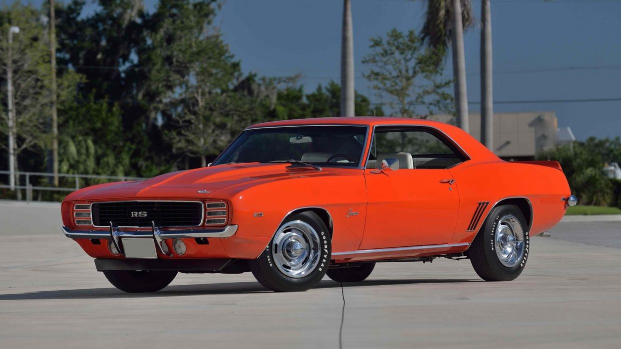 1969 Chevrolet COPO Camaro (RS) cars orange wallpaper
