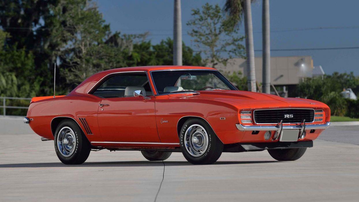 1969 Chevrolet COPO Camaro (RS) cars orange wallpaper
