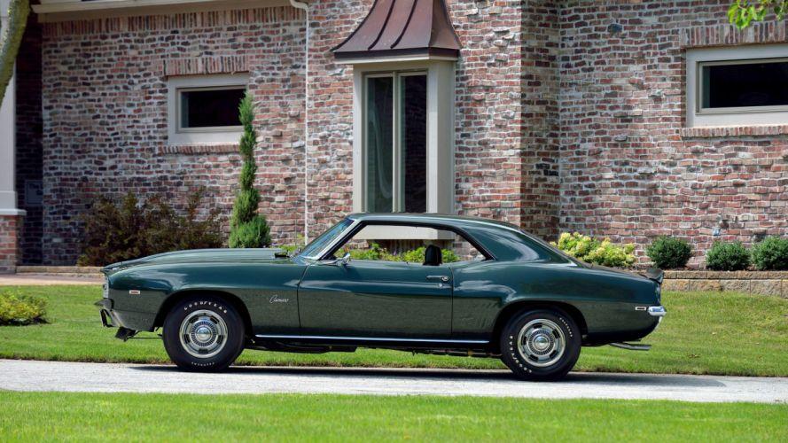 1969 CHEVROLET COPO CAMARO cars green wallpaper