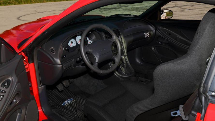 2000 Ford Mustang SVT Cobra-R cars red wallpaper